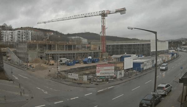 © Stadt Cham - Baustellenwebcam Stadthalle