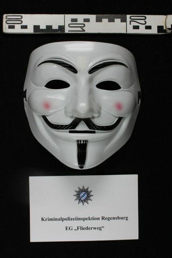 © Maske, die beim Überfall getragen wurde