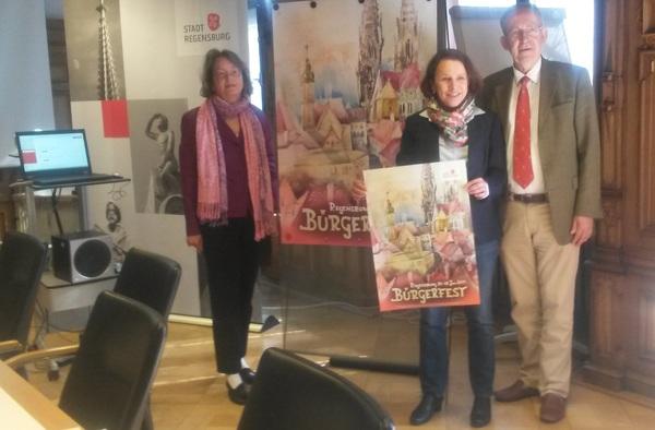 © V.L. Kulturamtsleiterin Schmidbauer, Bürgermeisterin Maltz-Schwarzfischer,Kulturreferent Unger