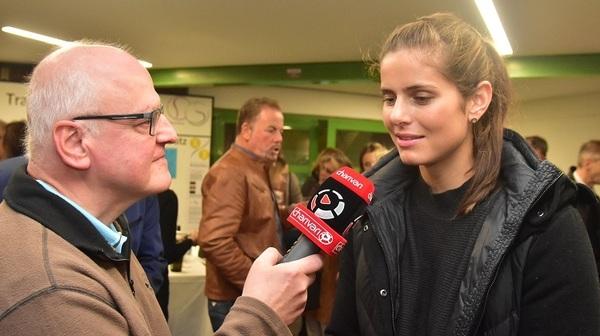 © Julia Görges mit Charivari Sportchef Armin Wolf