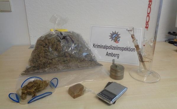 © Kripo Amberg, sichergestellte Gegenstände