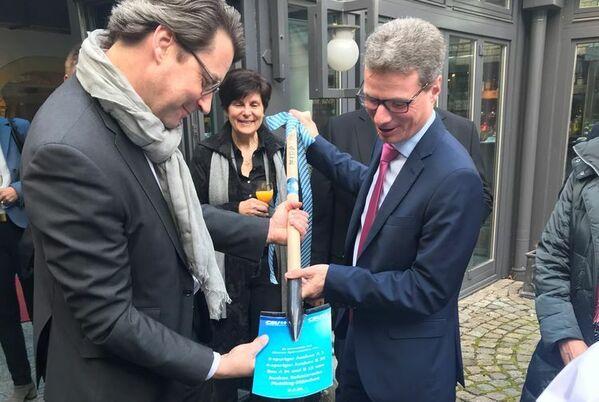 © CSU Niederbayern/Bundesverkehrsminister Andreas Scheuer, CSU-Bezirksvize Bernd Sibler