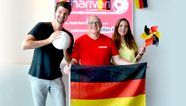 © Das charivari Frühstücksradio-Team und charivari Sportchef Armin Wolf