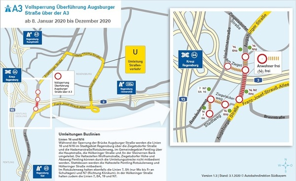 © Umleitung; Autobahndirektion Südbayern