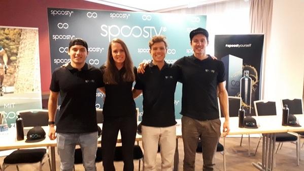 © v.l.Profi-Triatlon-Team: Marchelo Kunzelmann-Loza,Laura Zimmermann, Roman Deisenhofer, Sebastian Neef